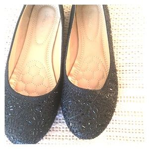 Shoes - Sparkling black flats